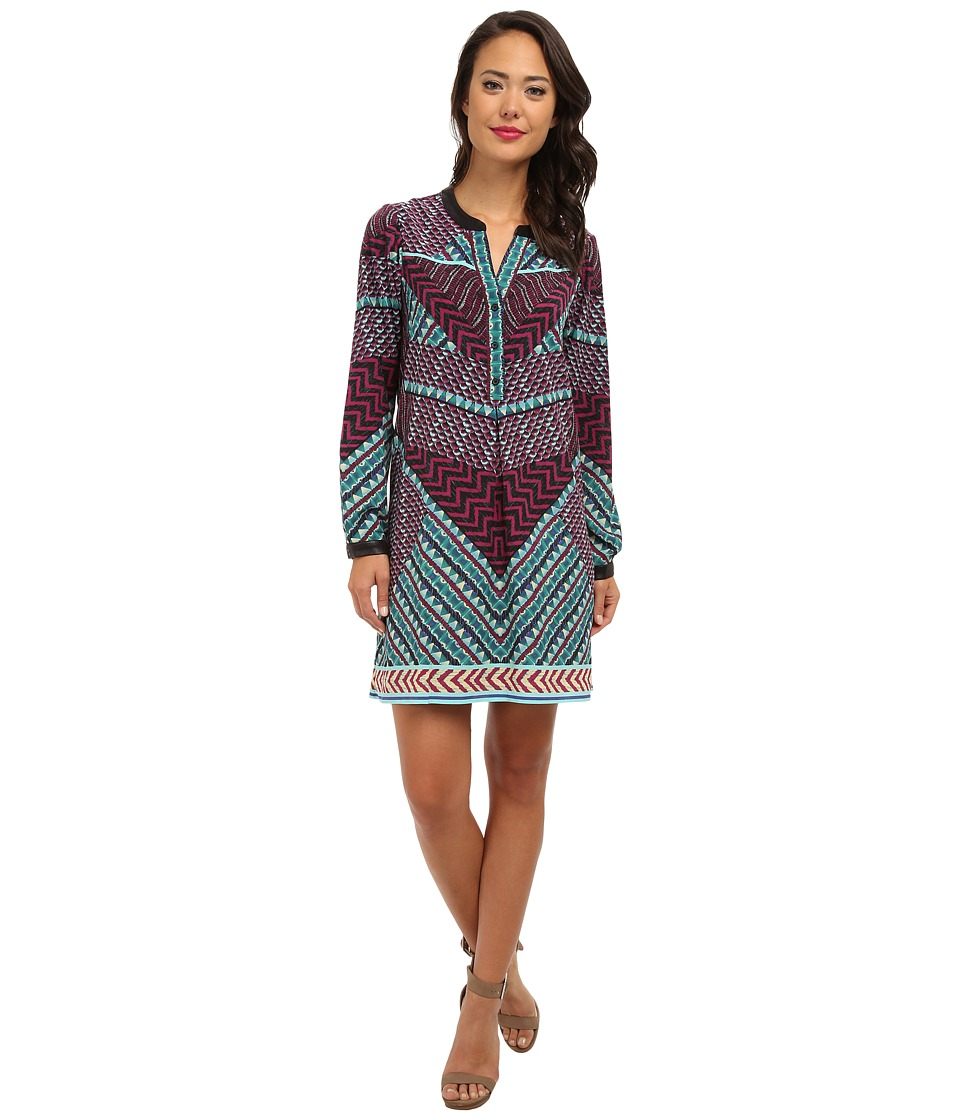 Hale Bob - Fall Into Tribal Dress (Purple) Women's Dress
