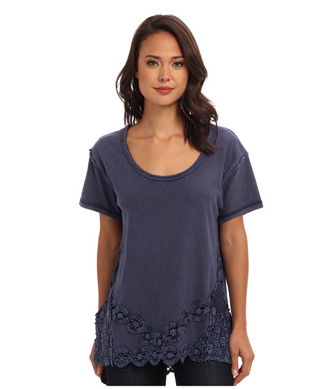 Free People - The Stone Tee (Indigo) Women's Short Sleeve Pullover