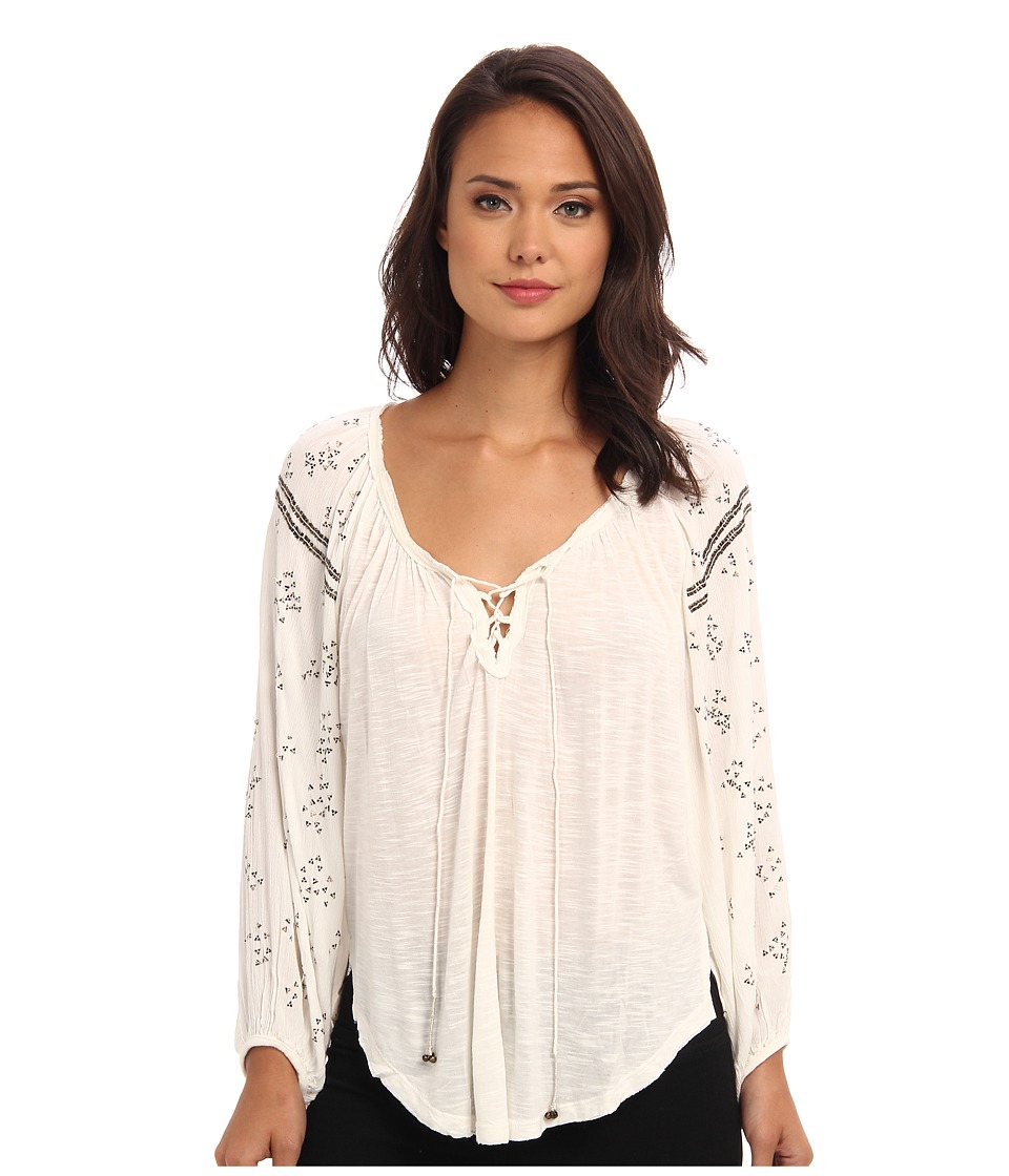 Free People - Golden Nugget Tee (Ivory) Women's Long Sleeve Pullover
