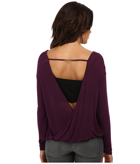 Free People - Back Together Tee (Dark Plum) Women's T Shirt