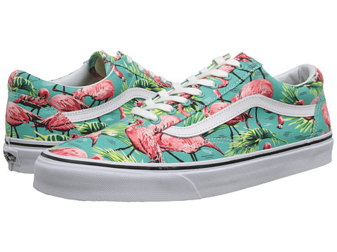 Vans - Old Skool ((Van Doren) Turquoise/Flamingo) Skate Shoes