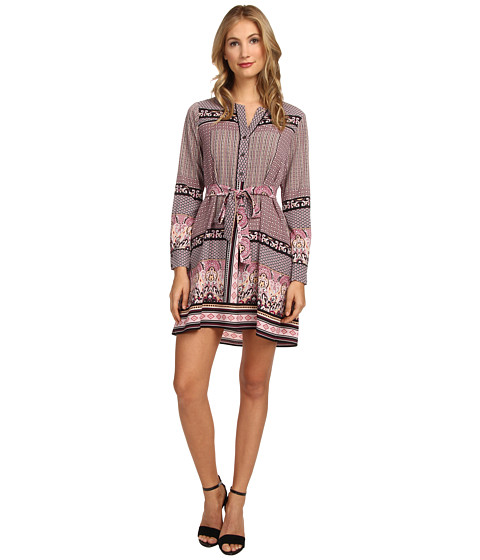 Hale Bob - Feminine For Fall Shirtdress (Blush) Women's Dress