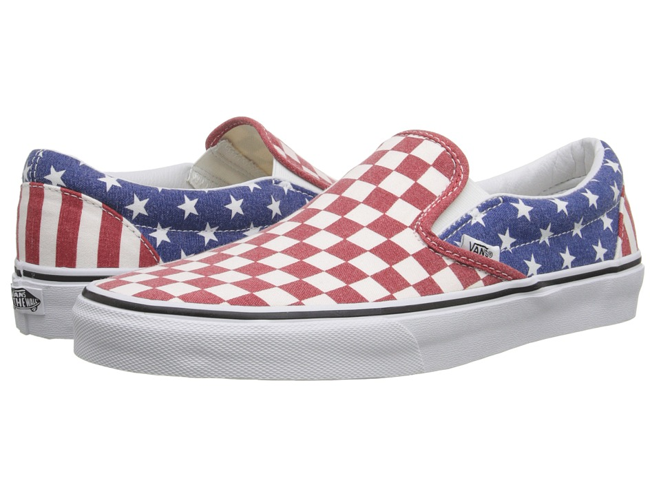 Vans - Classic Slip-On ((Van Doren) Stars/Stripes/Checker) Skate Shoes