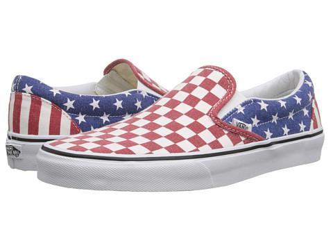Vans - Classic Slip-On ((Van Doren) Stars/Stripes/Checker) Skate Shoes
