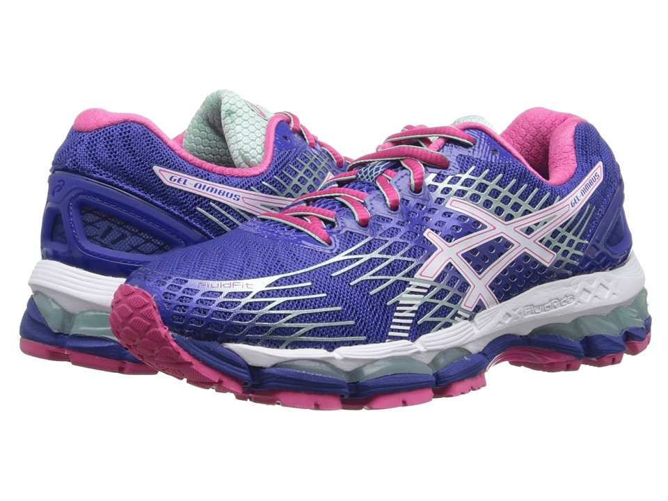 ASICS - GEL-Nimbus 17 (Deep Blue/White/Hot Pink) Women's Running Shoes