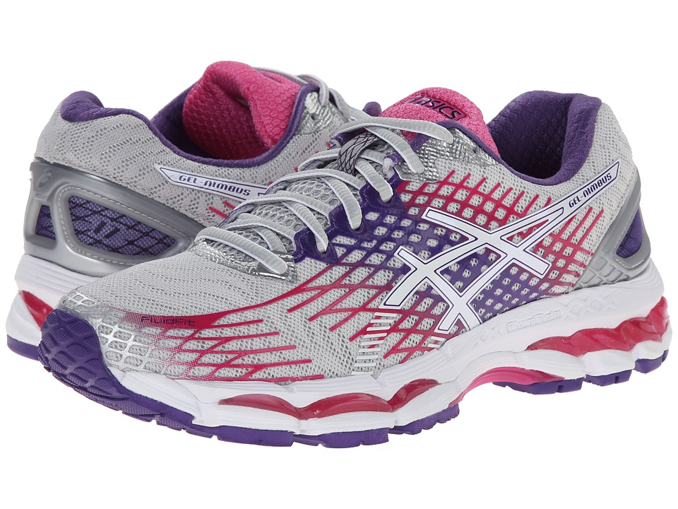 ASICS - GEL-Nimbus 17 (Lightning/White/Hot Pink) Women's Running Shoes