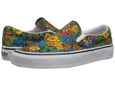 Vans - Classic Slip-On ((Liberty) Multi Floral/True White) Skate Shoes