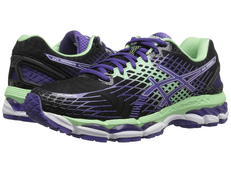 ASICS - GEL-Nimbus 17 (Onyx/Purple/Mint) Women's Running Shoes