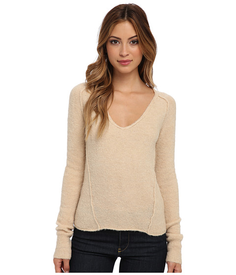 Free People - Everyday V Sweater (Camel) Women's Long Sleeve Pullover