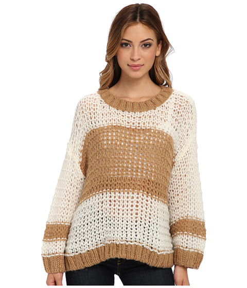 Free People - Monaco Pullover Sweater (Ivory Combo) Women's Long Sleeve Pullover