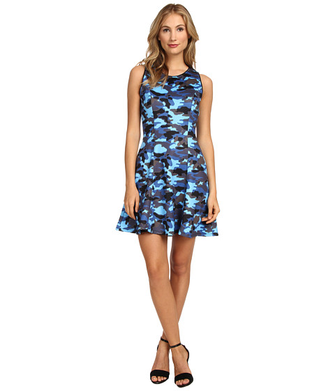 Hale Bob - Concrete Fit and Flare Dress (Blue) Women