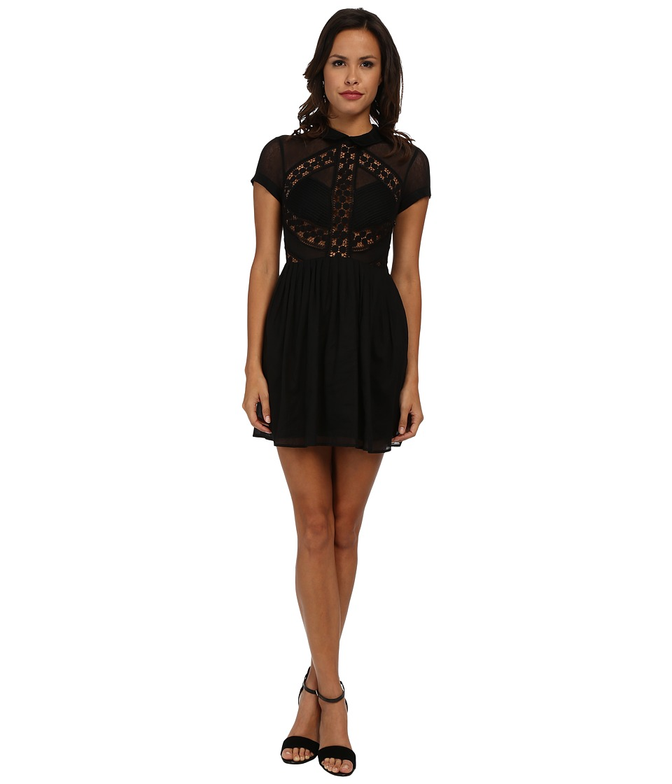 Free People - All That Talk Dress (Black) Women's Dress