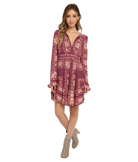 Free People - Bridgette Mini Dress (Berry Combo) Women's Dress