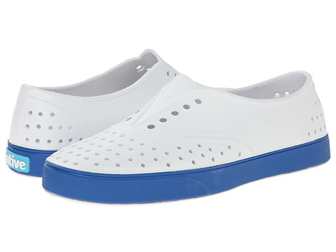 Native Shoes - Miller (Shell White/Victoria Blue) Slip on Shoes
