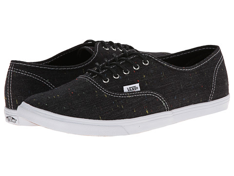 Vans - Authentic Lo Pro ((Speckle Linen) Black) Skate Shoes
