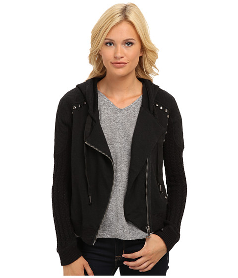 Free People - Ring My Bell Hoodie (Black Combo) Women