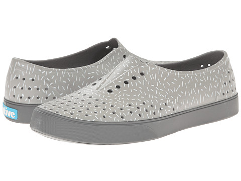 Native Shoes - Miller (Pigeon Grey/Sprinkle Print) Slip on Shoes