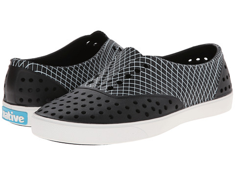 Native Shoes - Miller (Jiffy Black/Wavey Grid) Slip on Shoes