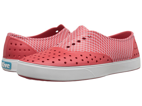 Native Shoes - Miller (Fire Red/Wavey Grid Print) Slip on Shoes