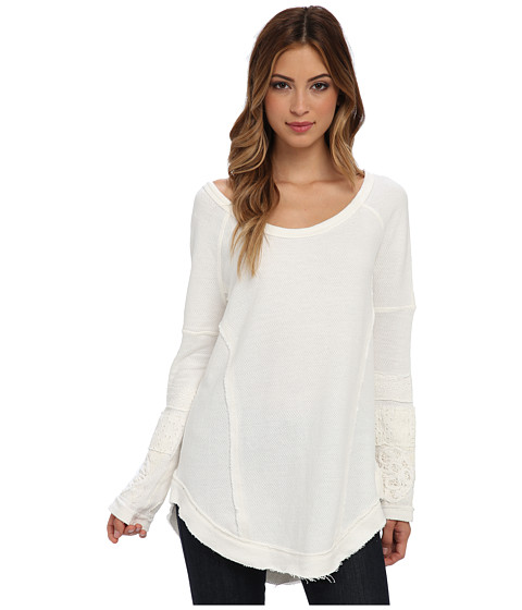 Free People - U Don't Own Me Tunic (Cream) Women's Long Sleeve Pullover