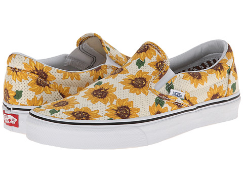 Vans - Classic Slip-On ((Sunflower) True White) Skate Shoes