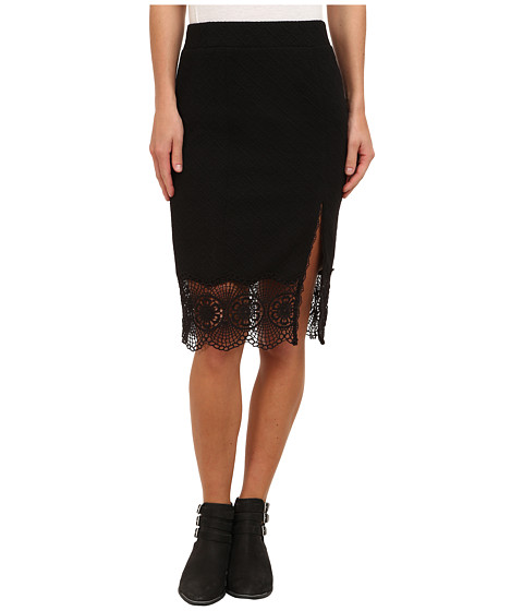 Free People - Story Teller Skirt (Black) Women's Skirt