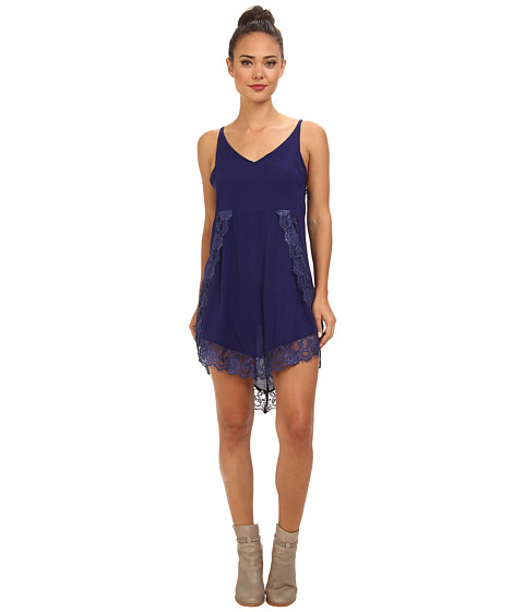 Free People - Eyelashes Slip (Indigo Ink) Women's Dress