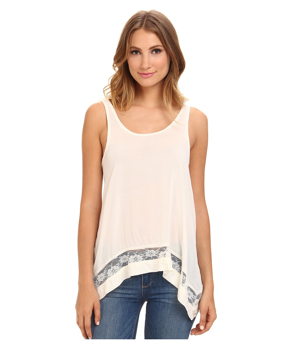 Free People - Hi-Low Outlined Cami (Snow) Women's Sleeveless