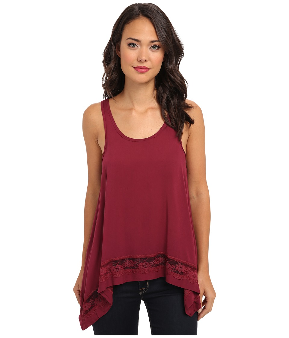 Free People - Hi-Low Outlined Cami (Rich Berry) Women's Sleeveless