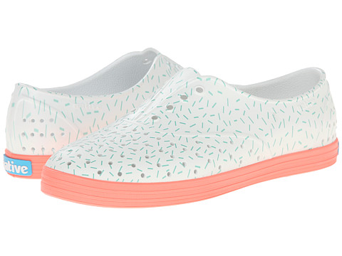 Native Shoes - Jericho (Popstar Orange/Sprinkle Print) Women