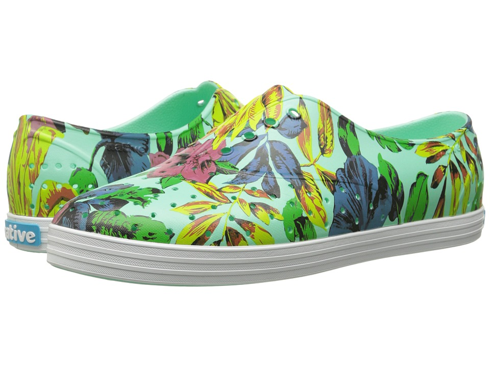 Native Shoes - Jericho (Glass Green/Dayglo Bloom Print) Women