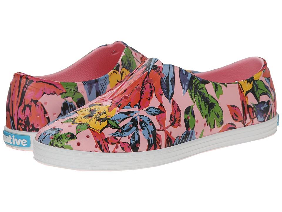 Native Shoes - Jericho (Princess Pink/Dayglo Bloom Print) Women's Shoes