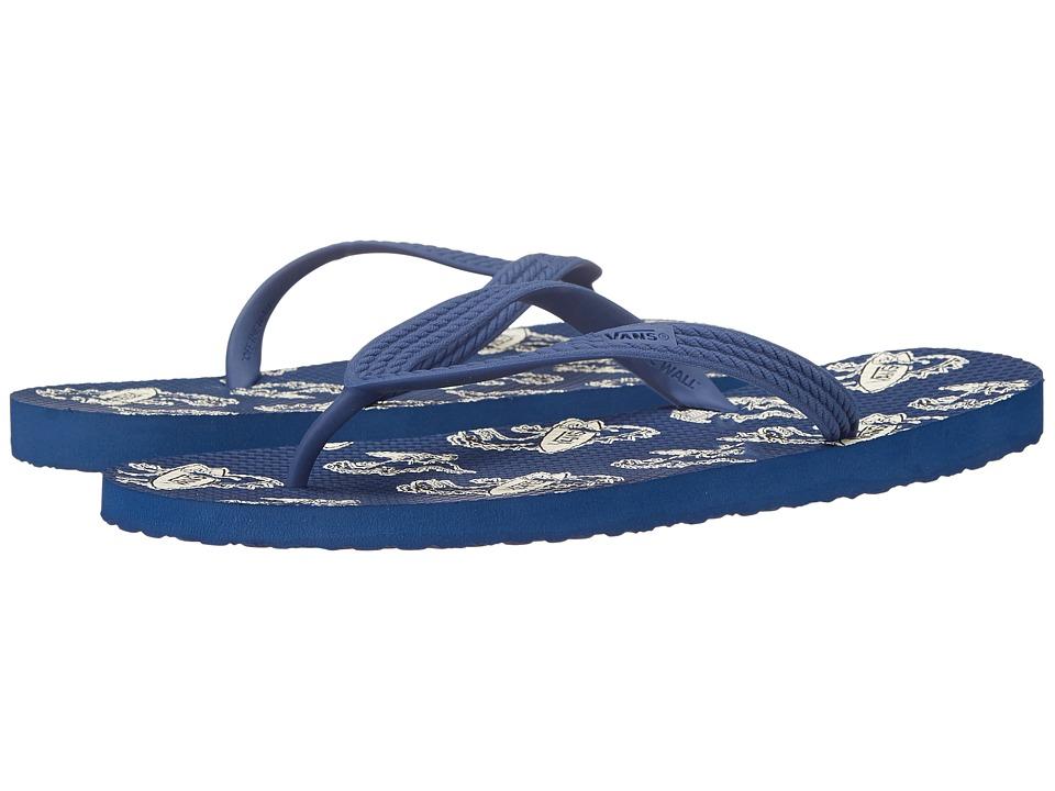 Vans - Hanelei ((Surfosaurus) Estate Blue) Men's Sandals