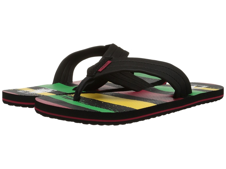 Vans - 204 Print ((Rasta) Black) Men's Sandals
