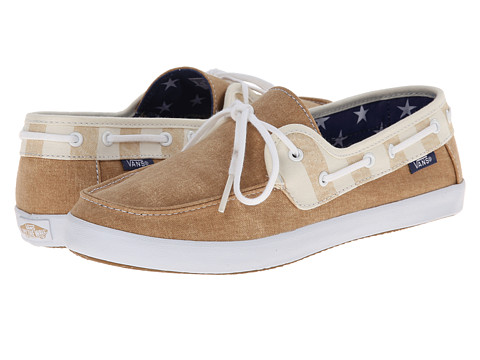 Vans - Chauffette W ((Americana) Tan/Marshmallow) Women's Lace up casual Shoes
