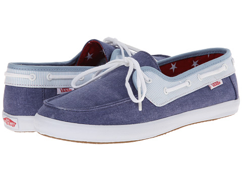 Vans - Chauffette W ((Americana) Stv Navy/Forget-Me-Not) Women's Lace up casual Shoes