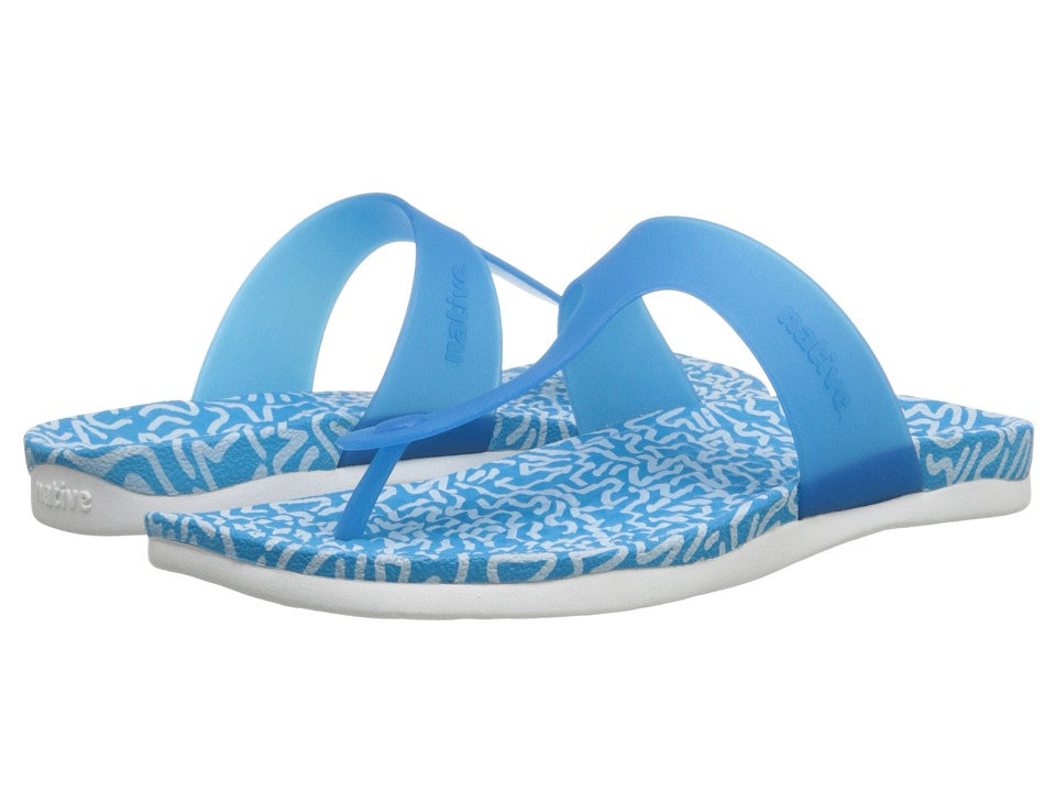 Native Shoes - Blanca (Lucy Blue/Doodle Print) Women's Sandals