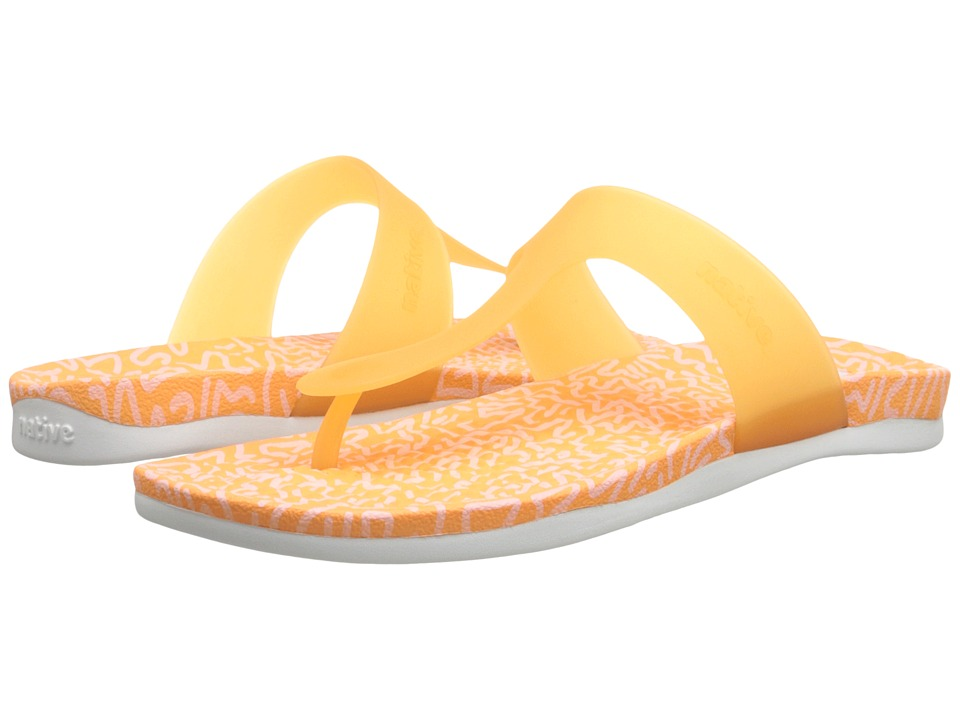 Native Shoes - Blanca (Lazer Orange/Doodle Print) Women's Sandals