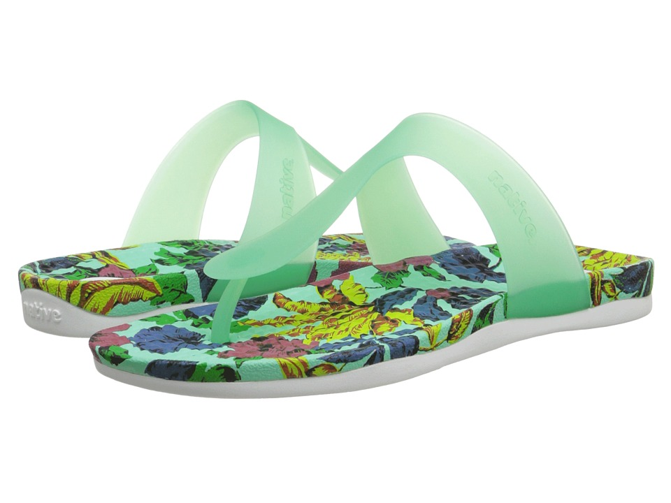 Native Shoes - Blanca (Glass Green/Dayglo Bloom Print) Women's Sandals