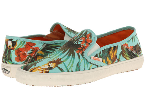 Vans - Comina ((Tropical Parrot) Beach Glass/Marshmallow) Women