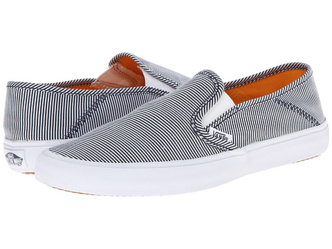 Vans - Comina ((Skinny Stripes) Navy/White) Women's Shoes