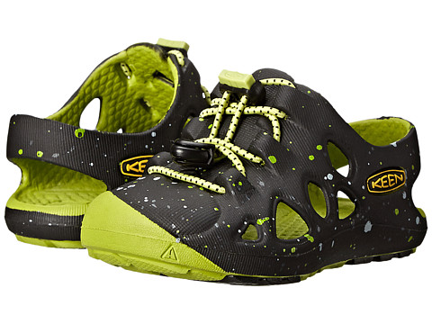 Keen Kids - Rio (Toddler) (Black/Bright Chartreuse) Boys Shoes