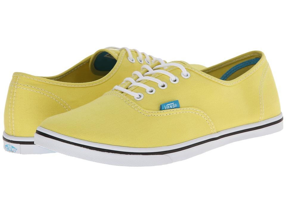Vans - Authentic Lo Pro ((Pop) Yellow/Cyan Blue) Skate Shoes