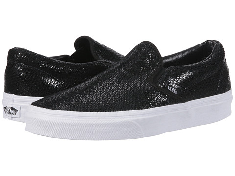 Vans - Classic Slip-On ((Pebble Snake) Black) Skate Shoes