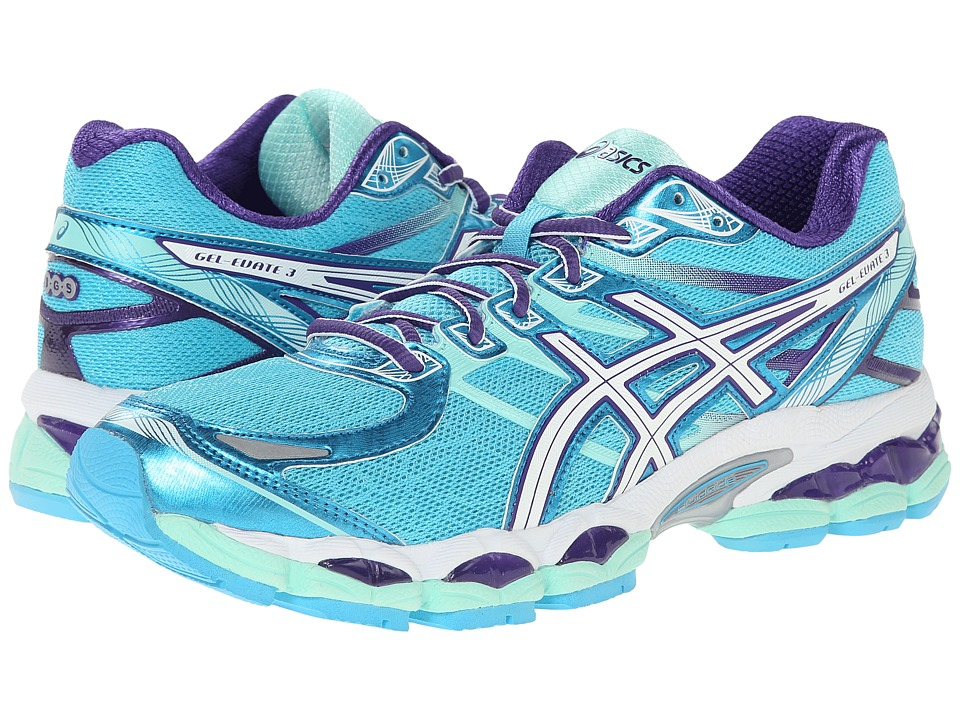 ASICS - Gel-Evate 3 (Turquoise/White/Purple) Women's Running Shoes