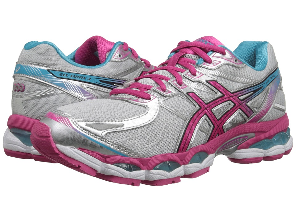 ASICS - Gel-Evate 3 (Lightning/Hot Pink/Blue) Women's Running Shoes