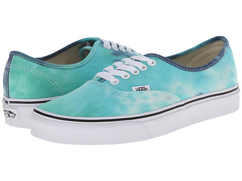 Vans - Authentic ((Tie Dye) Navy/Turquoise) Skate Shoes