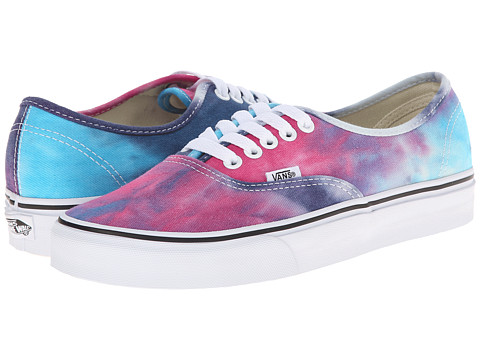 Vans - Authentic ((Tie Dye) Pink/Blue) Skate Shoes