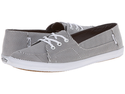 Vans - Palisades Vulc W ((Skinny Stripes) Steele Gray/White) Women