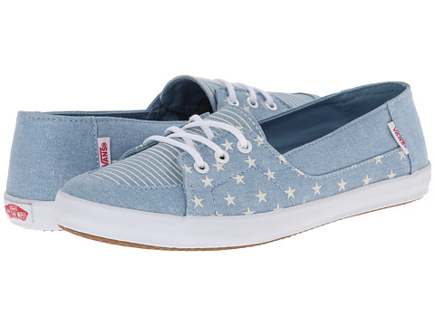 Vans - Palisades Vulc W ((Americana) Forget-Me-Not) Women's Skate Shoes
